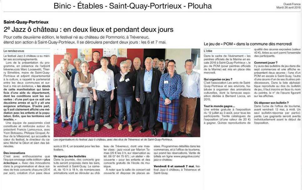 Ouest France 26 avril 2016 mod marc
