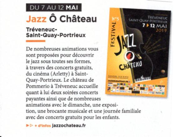 Côtes d'Armor mai:juin 2019