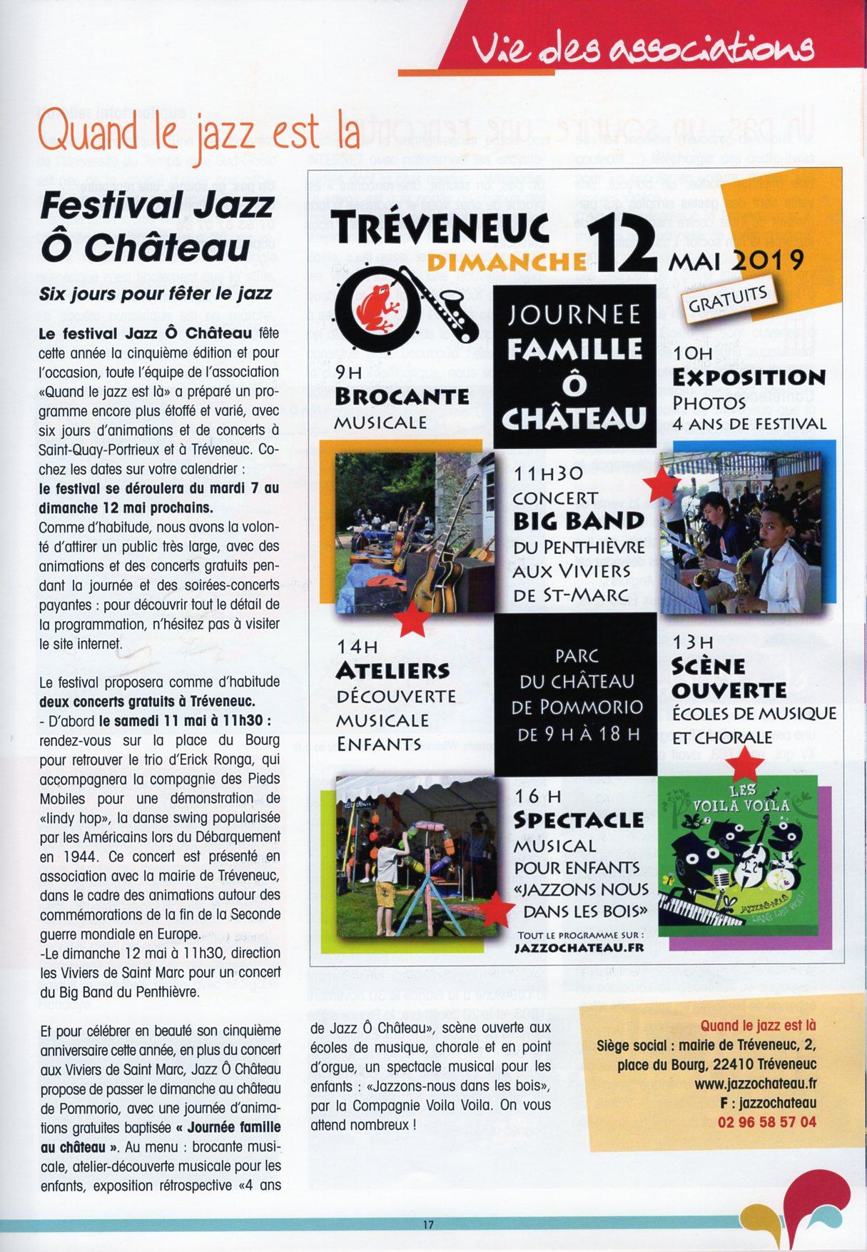 Le Crapaud Rouge - bulletin municipal de Tréveneuc - printemps 2019