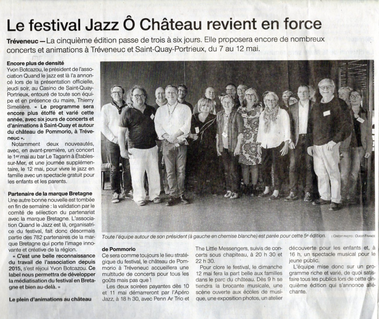 Ouest France - 29 avril 2019
